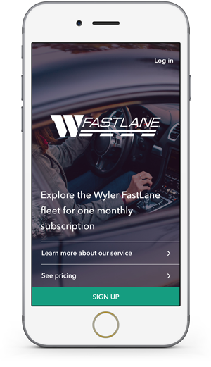Wyler FastLane Mobile App on iPhone Screen