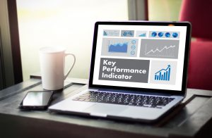 Key Performance Indicator Illustration on a Laptop Screen